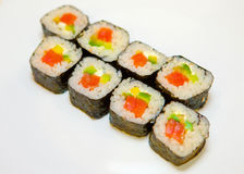 Suszi z czerwieni ryba 10 Fotografia Stock