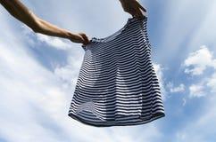 Suszyć pasiasta koszula Obraz Stock