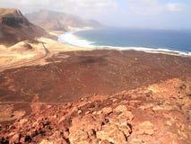 Suszy krajobraz Sao Vincente, jeden przylądka Verde wyspy Obraz Stock