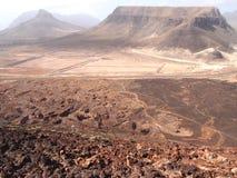 Suszy krajobraz Sao Vincente, jeden przylądka Verde wyspy Zdjęcia Royalty Free