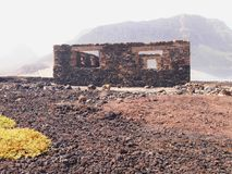Suszy krajobraz Sao Vincente, jeden przylądka Verde wyspy Obrazy Stock