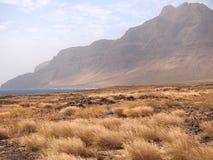 Suszy krajobraz Sao Vincente, jeden przylądka Verde wyspy Fotografia Stock