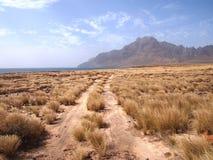 Suszy krajobraz Sao Vincente, jeden przylądka Verde wyspy Zdjęcia Stock