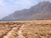 Suszy krajobraz Sao Vincente, jeden przylądka Verde wyspy Zdjęcie Royalty Free