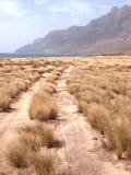 Suszy krajobraz Sao Vincente, jeden przylądka Verde wyspy Obrazy Royalty Free