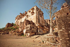 Suszy krajobraz wokoło xvii wiek fortu Zdjęcia Stock