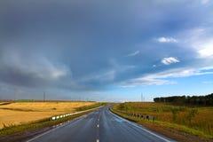 suszy krajobrazowy drogowy wiejskiego Zdjęcia Royalty Free