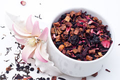 Suszy kwiat herbaty obraz stock