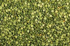 Suszy rozszczepioną zielonych grochów teksturę Fotografia Stock