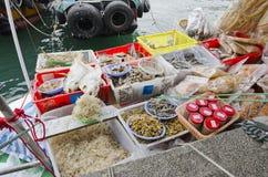 Suszy Ryba i Innego Owoce morza zdjęcie stock