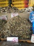 Suszy ryby w targowej ulicie zdjęcie royalty free