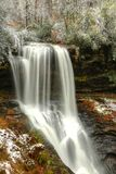 Suszy spadki, jesień śnieg W Natahalia lesie państwowym Obraz Stock