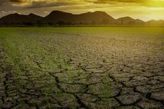 Suszy zmielonego klimat zmieniającego obraz stock