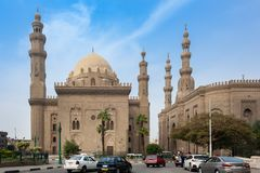 Sultan Hassan mosque in Cairo royalty free stock photo
