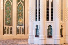 Sułtanu Qaboos Uroczysty meczet, muszkat Fotografia Stock