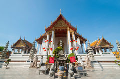 Sutattempel in Bangkok, Thailand Royalty-vrije Stock Afbeeldingen