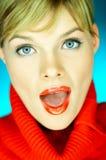 Suéter rojo Foto de archivo libre de regalías