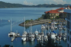 Boats moored at Sutera Harbour Kota Kinabalu Malay Stock Photography