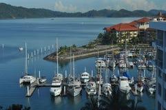 Boats moored at Sutera Harbour Kota Kinabalu Malay Stock Photography