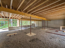 Suterenowa budowa pod nowym domem Zdjęcie Royalty Free