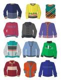 Suéteres del ` s de los hombres en diseño plano Fotografía de archivo libre de regalías
