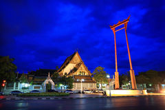 Suthat Temple, Bangkok, Thailand. Temple at twilight, Suthat Temple, Bangkok, Thailand Stock Image