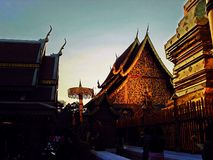 Suthep temple, Chiang Mai, Thailand Royalty Free Stock Photography