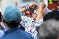 Suthep Thaugsuban protest i Bangkok Fotografering för Bildbyråer