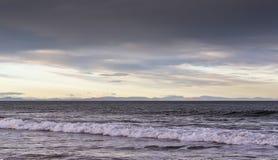Sutherland и Caithness от Lossiemouth. Стоковые Изображения RF