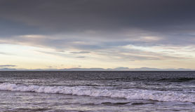 Sutherland and Caithness from Lossiemouth. Royalty Free Stock Images