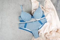 Sutiã e cuecas do roupa interior do ` s das mulheres Imagens de Stock Royalty Free
