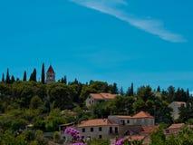 Sutivan op eiland Brac in Kroatië Stock Afbeeldingen