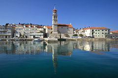 Sutivan, small fishermen and tourist village on Brac island Royalty Free Stock Images