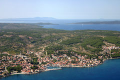 Sutivan, view over the Brac Island Stock Image