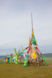 Sutra streamers of Tibetan Buddhism Stock Photography