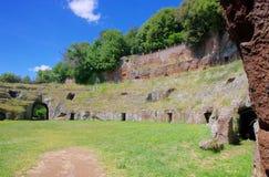 Sutri amphitheatre. Sutri, old amphitheatre in Italy Royalty Free Stock Image