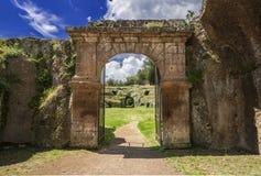 Sutri roman amphitheater gate Royalty Free Stock Images