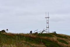 Sutro塔如被看见从Mt戴维森旧金山, 10 库存照片