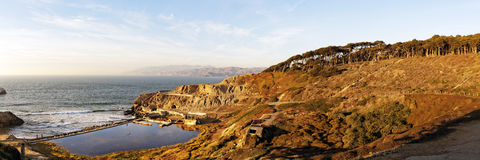 Sutro Baths panorama near Seal Rock San Francisco Royalty Free Stock Photo