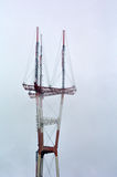 Sutro Tower in fog at San Francisco - California Royalty Free Stock Photo