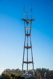 Sutro Tower in San Francisco, California. Royalty Free Stock Image