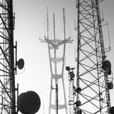 Sutro Tower telecommunication tower Royalty Free Stock Photos