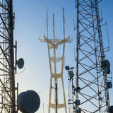 Sutro Tower telecommunication tower Royalty Free Stock Photography