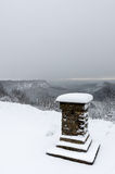 Sutton Bank - Winter-Ansicht Stockbild