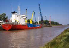 Sutton Bridge Port on River Nene, England Stock Photo