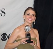 Sutton Foster Wins Second Tony. Actress Sutton Foster, a fixture in Broadway musicals, wins her second Tony Award at the 65th annual event, in New York City Stock Photography
