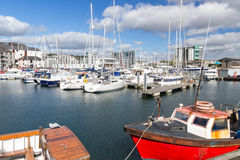 Sutton Harbour Marina Plymouth Royalty Free Stock Images