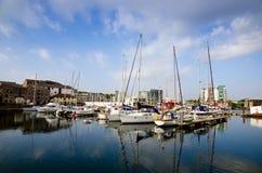 Sutton Harbour Plymouth, Inghilterra Fotografia Stock Libera da Diritti