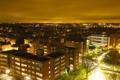 Sutton la nuit (sud de Londres) images libres de droits