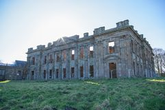 Sutton Scarsdale Hall, Georgian ruin in chesterfield, Derbyshire, England. English Heritage looks after Sutton Scarsdale Hall, Georgian ruin in chesterfield Stock Photography